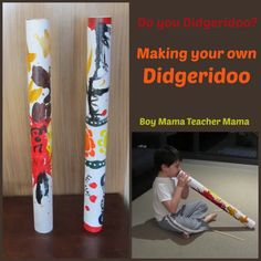 Boy Mama Teacher Mama: Making Your Own Didgeridoo - Australie Aboriginal Art For Kids, Aboriginal Education, Indigenous Education, Aboriginal Culture, Australia For Kids, Australia Crafts, Didgeridoo, Lessons For Kids, Projects For Kids
