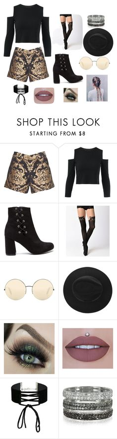 """Black and gooollldd"" by summer-anderson-i on Polyvore featuring Alice + Olivia, Victoria Beckham, Miss Selfridge and Bernard Delettrez"