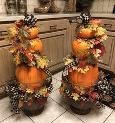 Pumpkin Topiary X 2 Fall Topiaries, Pumpkin Topiary, Topiary Trees, Fall Mantel Decorations, Thanksgiving Decorations, Fall Fireplace, Halloween, Fall Home Decor, Fall Wreaths