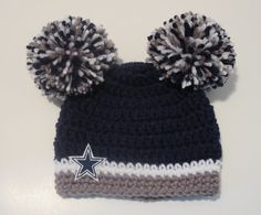 030e48c6ce7 ... reduced crochet dallas cowboys inspired hat beanie sports newborn girl  baby 9edd8 c4b30