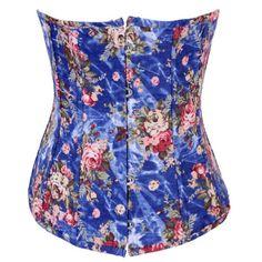 06c7caf82da Renaissance Floral Pattern Print Underbust Body Shaper Corset