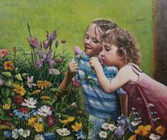 KIDS AMONG FLOWERS