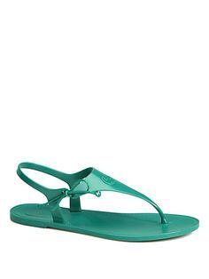 Gucci - Katina Rubber Thong Sandals - For hot rainy days?