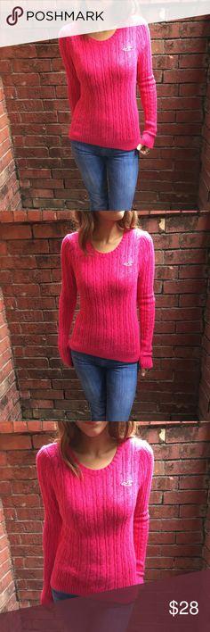 Hollister Rabbit Fur Pink Crewneck Sweater Bust: 35' Sleeve: 25.6'  Length: 23.5' 60%cotton 35%nylon 5%rabbit hair Hollister Sweaters Crew & Scoop Necks
