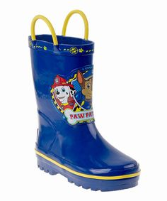 Another great find on #zulily! Blue PAW Patrol Rain Boots - Kids #zulilyfinds