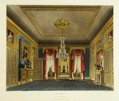 The Ante-Room - 1819 - From Pyne's Royal Residences. Carlton House, Henry Holland, Pall Mall, Royal Residence, Kingdom Of Great Britain, Royal Life, Expensive Houses, Regency Era, Windsor Castle