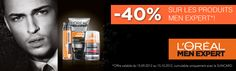 Action L'oréal men expert 40% @ sunstore.ch Mans World, Action, Products, Pharmacy, Group Action