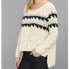 Free People fairaisle Snow Flake Combo Sweater NWT So super cute! Warm fuzzy and way soft. Brand new with tags. No snags tears or stains. Brand new condition. Free People Sweaters Crew & Scoop Necks