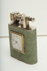 Dunhill Giant Shagreen Table Lighter with Clock at 1stdibs