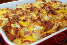 comfortable food - bacon, egg and cheese breakfast casserole