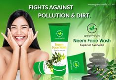 Green Vedic Best Neem Face Wash you can choose, as it does not contain any chemical on its face wash. It is also a popular and well-known face wash, which gives you natural ingredients. Best Natural Face Wash, Ayurvedic Hair Oil, Clear Face, Dead Skin, Face Skin, Your Skin, Sensitive Skin, Herbalism, Popular