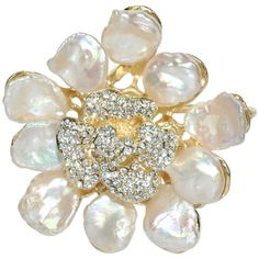 Abstract Cultured Pearl Flower Petal