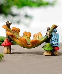 Another great find on #zulily! Miniature Woodland Hammock by Giftcraft #zulilyfinds