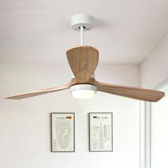 Wooden Ceiling Fans, Retro Ceiling Fans, Large Ceiling Fans, White Ceiling Fan, Wooden Ceilings, Unique Ceiling Fans, Bedroom Lighting, Home Lighting, Lighting Ideas
