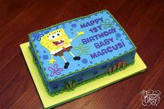 SpongeBob Birthday Cake by The Uncommon Cakery, via Flickr