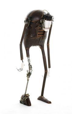 Les étranges personnages de Stephane Halleux stephane halleux sculpture personnage 16