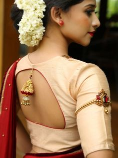 Blouse Designs: Blouse designs imagesAre you searching for the best blouse design images to get beautiful ideas that how to make different designs?So here we have tons of collections of blouse designs different types of patterns and. Saree Blouse Neck Designs, Fancy Blouse Designs, Latest Blouse Designs, Traditional Blouse Designs, Saree Blouse Patterns, Skirt Patterns, Coat Patterns, Sewing Patterns, Designer Blouse Patterns