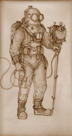 Diving suit sketch