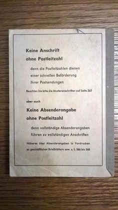 Vintage Ratgeber & Sachbücher - altes Postleitzahlenbuch 1961 Büchlein - ein Designerstück von Grossmutters_Lieblinge bei DaWanda