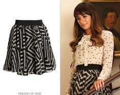 Milly Luca Dot Print Skirt - No longer available Info source: Dana @ Possessionista Worn with: Urban Outfitters blouse, Jeffrey Campbell pumps