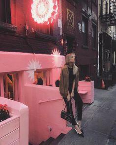 "22.8 m Gostos, 228 Comentários - Danielle Bernstein (@weworewhat) no Instagram: ""Pink AF for @rodialskincare dinner with @mrsrodial"""