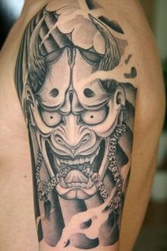 Hannya Mask Oni Mask Tattoo
