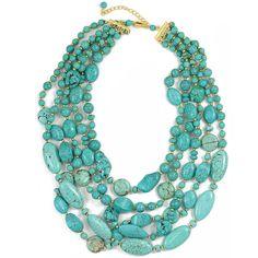 Fashion Turquoise Statement Necklace