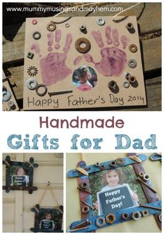 Children's Handmade Fathers Day gifts - easy ideas and inspiration to help children be creative and show their love for Dad! From Mummy Musings and Mayhem Diy Father's Day Gifts Easy, Handmade Father's Day Gifts, Father's Day Diy, Fathers Day Crafts, Happy Fathers Day, Gifts For Father, Happy Daddy, Christmas Gift For Dad, Christmas Cards