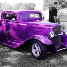 Vintage purple car I would totally drive this The Purple, All Things Purple, Purple Rain, Shades Of Purple, Purple Stuff, Purple Hearts, Bright Purple, Classic Hot Rod, Classic Cars