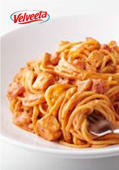 VELVEETA Italian Chicken Spaghetti – This delicious dish is dinner table-ready in just 30 minutes time. Bonus: It's a Healthy Living recipe too—with fresh vegetables and and chopped cooked chicken.