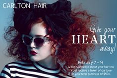 Find out from your Carlton Hair Artist how you can capture our heart (token)! hair: JessiJo at Carlton Hair Montclair, photo: @phillipjojola, ad: @aghoulscout