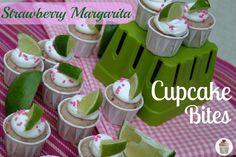 Strawberry Margarita Cupcake Bites cupcake-tuesday