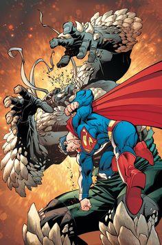 Superman vs Doomsday Superman Family, Batman And Superman, Superman Stuff, Action Comics 1, Dc Comics Art, Superman Doomsday, Comic Book Artists, Comic Artist, Comic Books Art