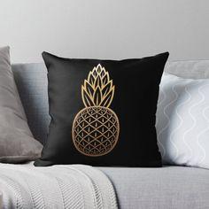 « Ananas Doré » par LenysEcoHome | Redbubble Gold Pineapple, Golden Color, Throw Pillows, Slipcovers, Toss Pillows, Cushions, Decorative Pillows, Decor Pillows, Scatter Cushions