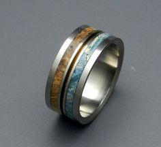 Heaven on earth     Minter + Richter   Wooden Wedding Rings - Earth Rings   Titanium Rings   Minter + Richter