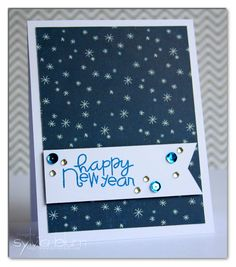 ...{Sylvias Stamping Place}... New Year Card by Sylvia Blum