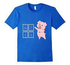 Men's Bacon Periodic Table Elements Pink Pork Pig Funny W...…