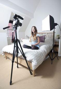 Zoe Sugg, aka Zoella, working from home
