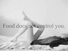 La comida no puede controlarte.