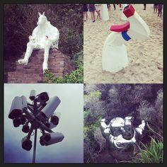 Sculptures. By the sea. #sculptures #sculpturesbythesea #art #culture #bondi #bondibeach #tamarama #bronte #coogee #bonditobronte #sydney #nsw #Australia #coast #sea #beach #horse #camera #sand #instadaily #instagood by laura_inthesky http://ift.tt/1KBxVYg