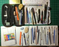 Jane Blundell: Plein Air Painting Materials - showing full work in progress.