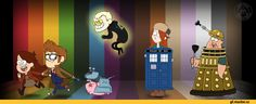 Gravity Falls/Doctor Who crossover<<Mabel and Dipper! Ten and Donna! Yes! I need it!