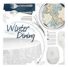 """""""Winter Dining"""" by foreverdreamt ❤ liked on Polyvore featuring interior, interiors, interior design, home, home decor, interior decorating, Kate Spade, Chilewich, Winter and Home"""