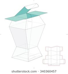 Prismatic Box with Die Cut Template
