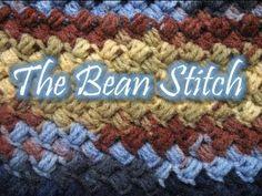 The Bean Stitch - Crochet Tutorial - YouTube ❥Teresa Restegui http://www.pinterest.com/teretegui/❥
