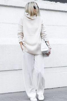 Белый total look – как носить белый с ног до головы - Икона стиля