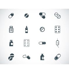 Black pills icon set vector 1712063 - by Deadklok on VectorStock® Stick Poke Tattoo, Stick N Poke, Chevron Tattoo, Meaningful Word Tattoos, Ouroboros Tattoo, Life Guard, Bike Tattoos, Pharmacy Design, Skull Artwork