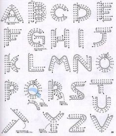 Alfabeto de crochê - gráfico