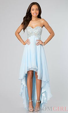 Inexpensive High Low Dress at PromGirl.com #prom #dress