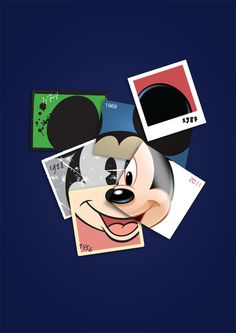Mickey Mouse collage by luca cozzi, via Behance